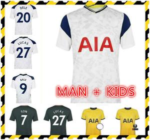 Мужчины + дети 20 21 тюк Кейн сын Bergwijn Ndombele футбол футбол 2020 2021 Morgan Dele Tottenham Jersey футбольный комплект рубашка Lloris Spurs House