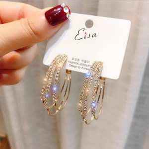 S925 silver needle circle earrings female temperament individuality circle European and American fashion wild earrings 2020 new trend