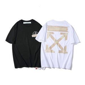 Стиль белый желтый ленты стрелка CORDON с коротким рукавом футболка мода бренд мужская и женская нижняя ширтыб0d