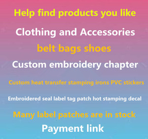 Bir sürü mucit özel marka logosu yamalar sıcak düzeltme sticker ısı transferi sıcak damgalama giyim çanta demir on yama özel işlemeli bölüm