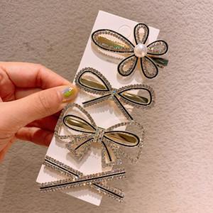 Pearl Hairclips Rhinestone Flower Hairpin Bow Duckbill Clip Headwear Simple Barrette Diamond Hair Accessories Styling Tools