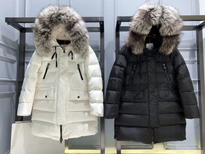 2020 Belt Puffer Coat Waterproof Quilted Coats Parkas With Real Big Fur Hood Plus Size Winter Duck Down Coat Women Mo