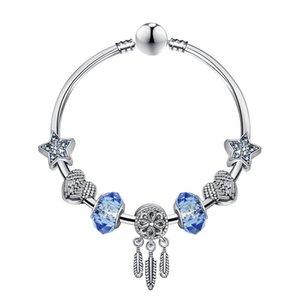 factory direct luxury 2020 2021 new hot Guardian Dream Blue Star Dream Catcher Bracelets DIY Creative Heart Bracelet Accessories ornaments