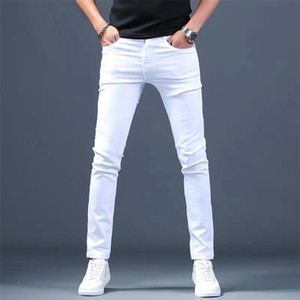 Designer White Jeans Men Brand New Fashion Elastic Mens Denim Pants Trousers Casual Slim Fit Stretch Skinny Jeans Pants for Men 201223