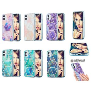 Plating Marble Shockproof IMD Case for iPhone 12 Mini 11 Pro XS Max XR 7 8 Plus SE2 LG Velvet XiaoMi POCO X3 10T Pro 10 Lite RedMi Note 9 9A