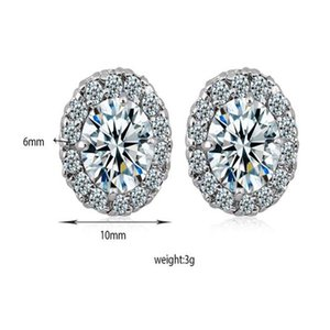 New Arrival Best Friends 18K White Gold Plated Earings Big Diamond Earrings for Women White Zircon Earrings z4154