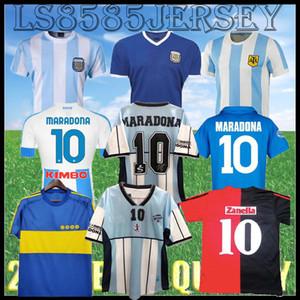 1978 1986 Argentinien Maradona Fussball Jersey Retro 82 83 Newells Alte Jungen 1981 Boca Juniors 87 88 Neapel Napoli Football Hemd Top Qualität