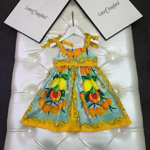 جديد نمط الأطفال اللباس 2021 الصيف أطفال بنات حمالة القوس فساتين الملابس الأزياء طباعة طفل الفتيات حزب شاطئ اللباس
