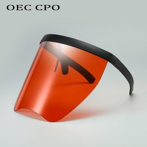 Oversized Goggle Sunglasses Women Men Big One-piece Mask Winfproof Sun Glasses Men Rimless Cool Glasses UV400 O699