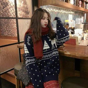 Christmas Pullovers For Women The Deer Pattern