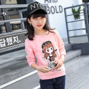 Frühling 2019 Baumwolle Langarm T-shirts für Kinder Mädchen Kleinkind Baby Cartoon Kaninchen Tops Teenage Weiß Sweatshirts Kinder T-Shirts Z1119