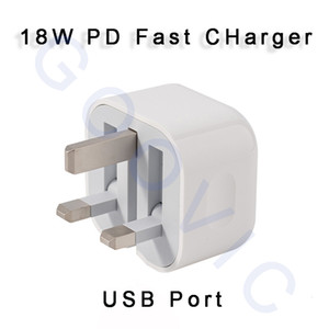 Portable Foldable Small UK Plug 18W PD Fast Charging USB Port Power Charger for Phones Tablets