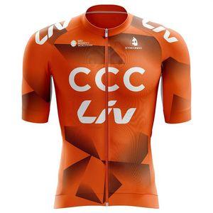 Aero Cycling Jersey CCC 2021 Männer LIV Kleider Etxeondo Kurzarm Kit Sommer Hemden Pro Team Racing Bike MAILLOT Atmungsaktiv Ciclismo ROPA