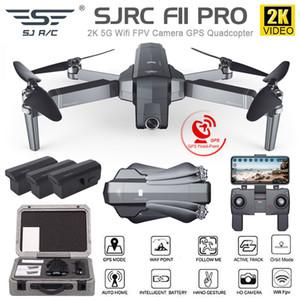 SJRC F11 / F11 Pro GPS Drone Wifi FPV ile 1080 P / 2 K HD Kamera Fırçasız Quadcopter 25 Dakika Uçuş Zaman Katlanabilir Dron vs SG906 A3 LJ200827