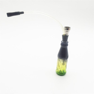 Mni Glass water pipe Graffiti or clear color Complete Set 1 Hose Hookahs Easy to clean shisha Glass Vase hookah