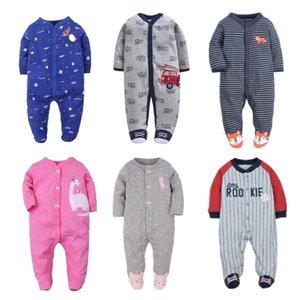 OrangeMom Newborn Fashion Pijamas Sleepwear Ropa Ropa para bebés Ropa para niñas 100% algodón Niños Rompers 201216