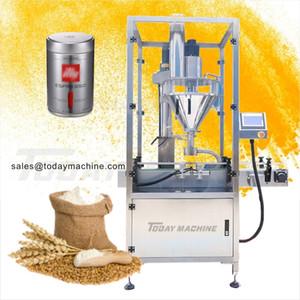 Coffee powder bottle packaging screw auger filling machine