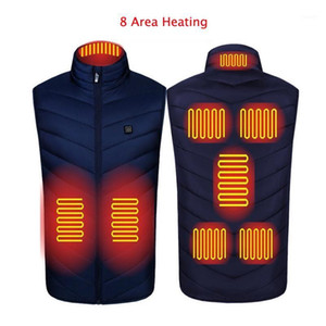Autumn Winter Men Stand-up Collar Heated Cotton Vest Graphene Electric USB Safe Smart Constant Temperature Heating Thermal Tank1