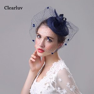 Lady Visor Bridal Hat Vintage European and American Hair Accessories Banquet Headdress Linen Net Yarn Wholesale