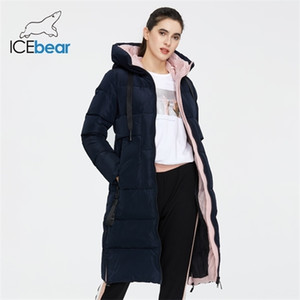 ICEbear 2020 New Winter Women Jacket High Quality Long Woman coat Hooded Female Parkas Stylish Women's Brand Clothing GWD19507I Q1119