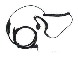 1 pin PTT Auricolare MIC per Motorola Radios Curl Line 2.5mm T6200 T6210 T6220 T6200 T6210 T6220 T6250 T6300 T6400 T7200 Nero C021 Alishow 20