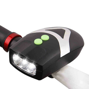 Waterproof Bright Bike Accessories Light LED Bike Front Light With Horn Clip Bicycle Bell Headlight Warning Lights