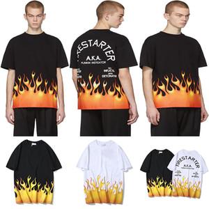 20ss Belleza Tide Palm Letra Carta Impresión Mujeres Diseñador Angels T SHIRT Camiseta para hombre Flame de lujo Camiseta casual de manga corta Tamaño asiático M-XXL