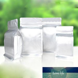 50pcs는 순수한 mylar 호 일 사이드 마치 가방 그립 밀봉 가능한 지퍼 식품 저장 가방