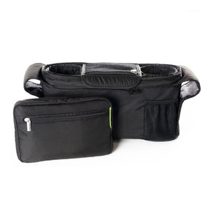 Stroller Organizer with Cup Holders Non-skid Strap Storage Bag for Phone Wallet Toys Bottle Diaper 66CY1