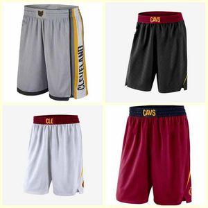 МужчиныКлевевCavaliers Shorts Баскетболисты Носят на суд; Swingman Shars вышитые мужские баскетбольные шорты