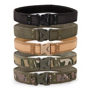 2020 Army Style Thicken Combat Belts Quick Release Tactical Belt Fashion Men Canvas Waistband Outdoor Hunting Accessories 130cm