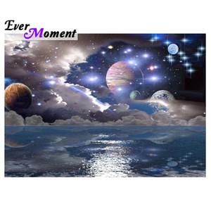 MOMENTO MOMENTO PINTURA DIAMIENTO HERMOSOS HERMOSO MISTERIOUSIO ESPACIO Y ESTRELLAS PLANET DIY 5D Diamond System System Universo ASF902 201118