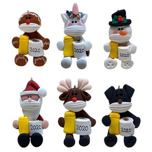 2020 Christmas Decoration Personalized Christmas Tree Hanging Pendants Animal Toilet Paper Ornament Party Christmas Gift K908