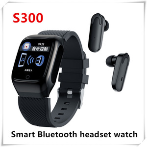 S300 Smart Watch Men Earbuds With Earphones Music BT 5.0 Wireless Touch Control Heart Rate Run for Android for iOS With TWS Bluetooth