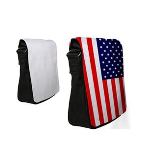 Sublimation Blanks Canvas Bag Rectangle Single Shoulder Wallet Black Zipper Small Sack Mens Women Strap Adjustable 22yt G2