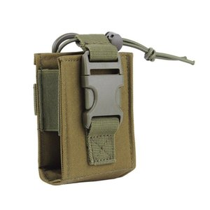 Tactical Army Molle Walkie Talkie Pouch Interphone Storage Bag Outdoor Molle Radio Pouch for Use Case Holder Pack