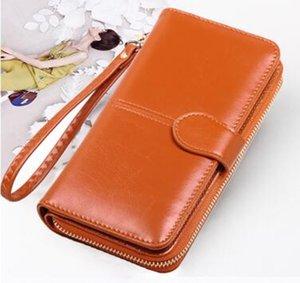 Оптовая продажа масла воск кожаный кошелек 2021 масло кожаный мобильный телефон сумка дамы монастырь сумочка карта сумка популярный стиль H266-2