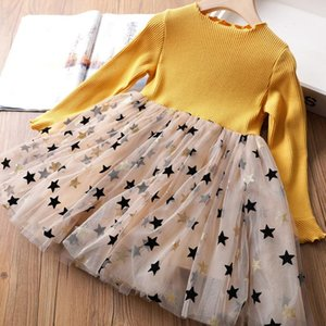 Girls Dress Autumn Birthday School Open Ceremony Dress Daily Long Sleeve Toddler Girl Clothes Children Clothing Baby Girls