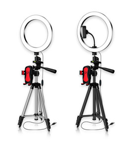 New LED Video Ring Light with Tripod Stand for Phone Cirlce Lamp Ringlight with Phone Holder Beauty Lighting for Selfie Photo Makeup