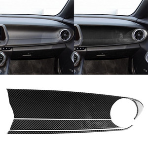 3 en 1 Carbon Fibre de carbone Passager Central Panneau de commande Panneau de commande Autocollant décoratif pour Chevrolet Camaro 2017-2019 Gauche Drive