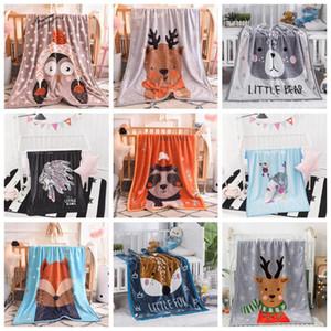 Baby Blanket Nap Blankets Cartoon Children Fluffy Throw Blanket Soft Skin Friendly Baby Cartoon Blankets Home Textiles 100*140cm DHC4241