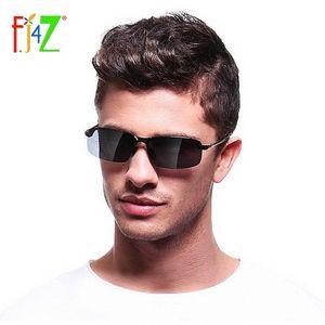 Güneş Gözlüğü F.J4Z Serin Erkekler Güneş Gözlükleri Moda Polarize Balıkçılık Sürüş Dikdörtgen Çerçevesiz Alaşımlı Çerçeve Shades