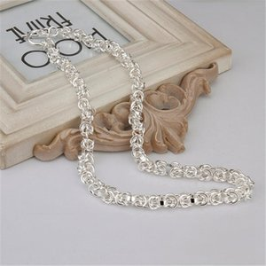 Wholesale High Quality Men Women Wedding Party Silver Color Fine Charm To Chain Necklace Fashion Jewelry N060 H sqclkP