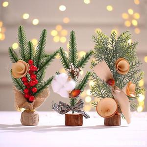 Creativo mini albero di natale decorazione albero piccolo albero decorazione da tavolo Atmosphere decorazione simulazione albero di Natale regalo DHD3207