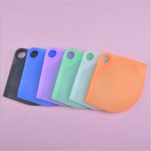 Masque de stockage Silicone Silicone Masques portables Boîte de rangement pliable lavable anti-poussière de recouvrement de cas de masque de masque de masque EWC4260