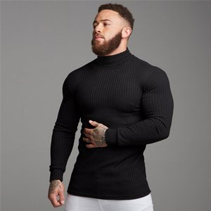 Autumn Winter Fashion Turtleneck Mens Thin Sweaters Casual Roll Neck Solid Warm Slim Fit Sweaters Men Turtleneck Pullover Male J1204