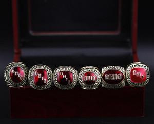Squisito nuovo 1954 1957 1961 1968 1977 1977 Ohio State University Buckeyes University Championship Ring Regalo di compleanno