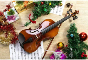 Christmas Gift Acoustic Violin 4 4 Full Size with Case and Bow Rosin Natural