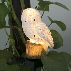 Owl Solar Landscape Light Waterproof White Energy Saving Led Lamp For Garden Square Outdoor Lighting Fixture