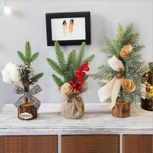 1* Small Xmas Ornament Decor Decorations 25cm Christmas Mini Tree Ornaments High Quality